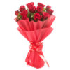 Bunch of 12 Long Stem Red Roses