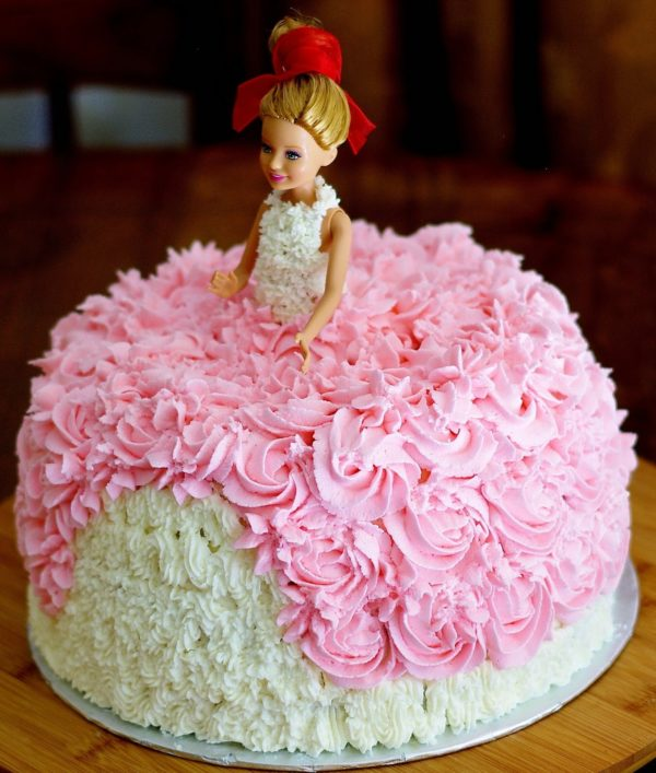 Pink Barbie Cake Flower N Cake Shop