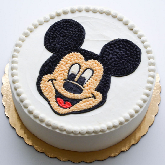 Smiley Mickey Mouse Cake