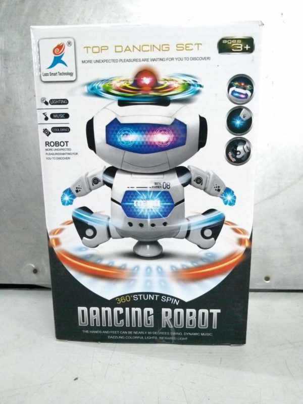 360 stunt spin dancing robot with music and flashing lights