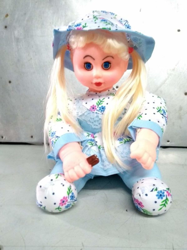 sitting baby doll with cap