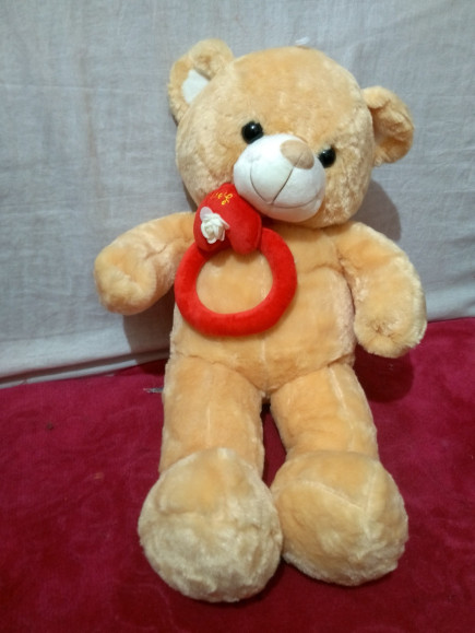Round Tie Brown Teddy Bear