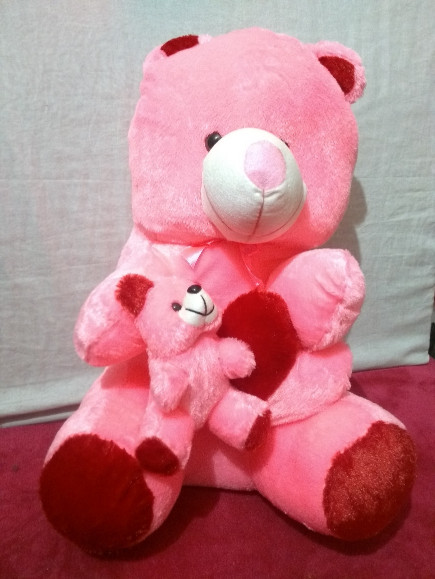 baby-mom-pink-teddy-bear