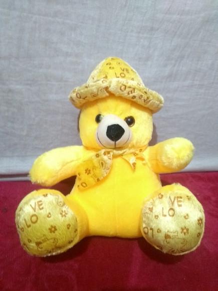 cute-cap-yellow-teddy-bear